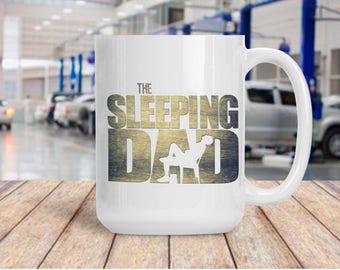 Funny Gift for Dad, Sleeping Dad Coffee Tea Mug, Ceramic Walking Dead Cup, Coffee Lover Gift Idea, TWD AMC Walker Sleeping Dad