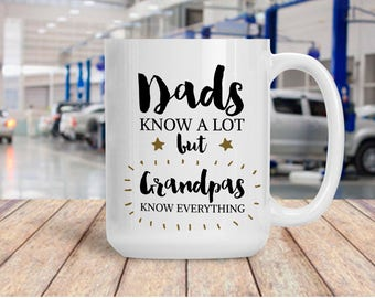 Funny Gift for Grandpa, Grandfather Coffee Mug, Coffee Tea Mug for Gramps, Gift for Birthday Anniversary, Present for Grandparent