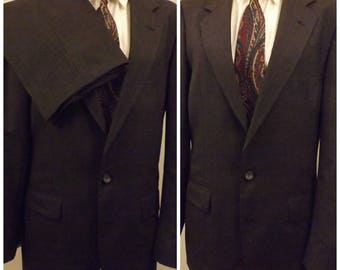Rare C H Barclay Gray Worsted Wool Men's Suit Size 40R