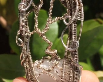 Selenite tree of life wire wrap