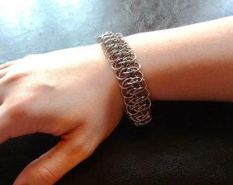 Silver Viper Scale Bracelet