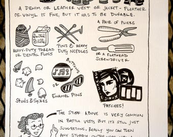 PunkPuns original artwork - Page Nine