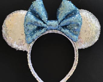 Elsa Sequin Minnie Mouse Ears