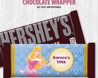 Sleeping Beauty Chocolate Bar Wrapper
