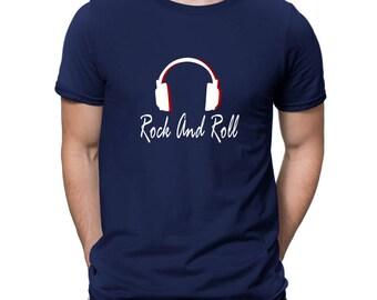 Rock And Roll Headphones T-Shirt