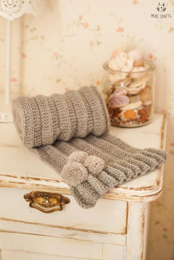 KNITTING PATTERN reversible scarf Carla (toddler, child, adult sizes)