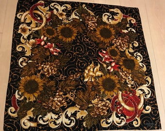 Authentic CHANEL Silk Scarf - Collectors Item - Sunflower Print