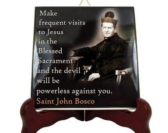 St John Bosco - Saints Quotes tiles serie - religious quotes - Saint John Bosco - inspirational quotes - catholic quotes