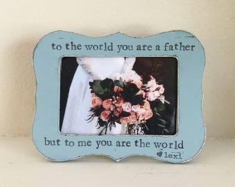 Father of the bride gift Dad gift Wedding frame for dad Personalized picture frame gift from daughter - Flowers in December Design Studio