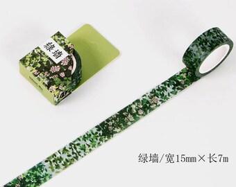 Green Wall washi tape