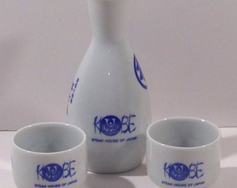 Ceramic Kobe Saki Set from Kobe Steak House of Japan Japanese Restaurant offered by Crafts by the Sea at Island Images Studio