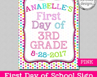 Customized First Day of School Sign, 24 Hour Turnaround, JPG file