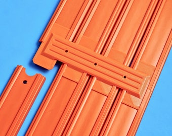 4-Lane Track Connector (6pk) - (Compatible with Hot Wheels Race Track)