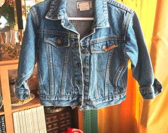 Vintage 80s JORDACHE Denim Jacket Stone Washed Child size M/T