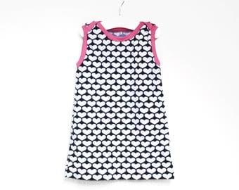 Pinafore Baby Tunic Dress, Pinafore Tunic Dress, Pinafore Baby Dress, Baby Tunic Dress, Pinafore Baby Tunic, Retro Baby Dress, Hearts Tunic