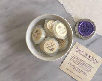 Natural Solid Perfume Sampler - Set of 4 Handcrafted Botanical Perfume Samples