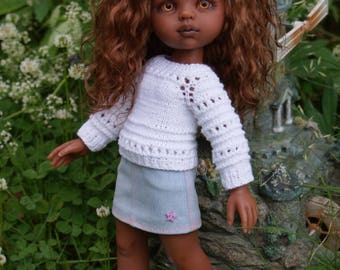 Hand Knit Sweaters for 13 inch dolls such as Paola Reina, Antonio Juan Munecas, Corolle Les Cheries