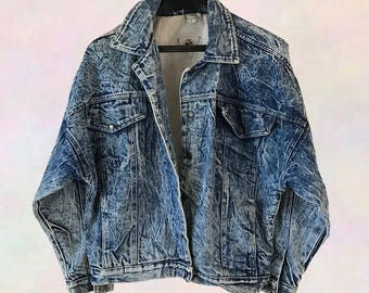 Acid Wash 90s Denim Jacket