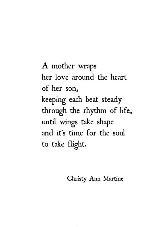 Gift for Mom from Son - Mother Son Gifts - Poem Print - Poetry Prints