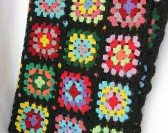 Granny square afghan | Etsy : crochet granny square quilt - Adamdwight.com