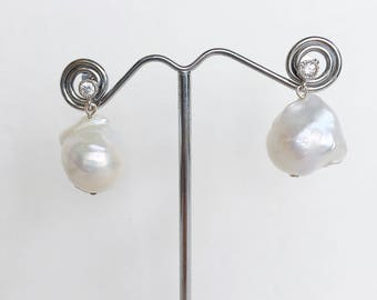 AAA Baroque Freshwater Pearl Drop Earrings