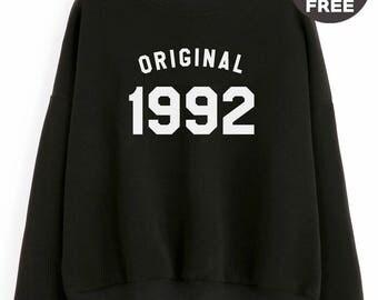 26th birthday gifts sweatshirt hipster tshirt 1992 birthday sweater pullover sweatshirt crewneck sweater cool tees birthday funny gift ideas