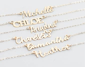 Mother's Necklace • Nameplate Necklace • Sister Necklaces • Custom Name Necklace • Friendship Necklaces, Bridesmaid Necklaces