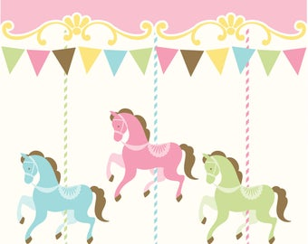 Carousel Party Treat bags / Carousel party/ Carousel Theme/ Carousel / carousel bags/ favor bags /