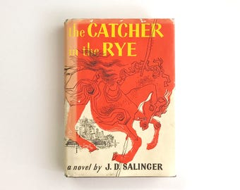 Vintage the Catcher in the Rye with Dust Jacket/ J.D. Salinger / Coming of Age,Banned Book / Holden Caulfield/ Hard Cover Catcher in the Rye