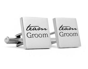 Groomsman Cufflinks, Stainless steel for the grooms man,  Groomsmen Gifts, gifts, mementos
