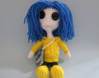 Crochet, Amigurumi, Coreline, Handmade, Dolls,  Handcrafted, Great Gifts, Handmade Toys,  Inspired By Coraline, Handmade Plushies,