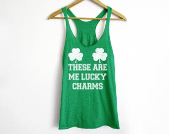 These Are Me Lucky Charms Tank Top - St. Patty's Day Tank - St. Patricks Day - Drinking Shirt - Graphic Tee - Funny Irish Tank