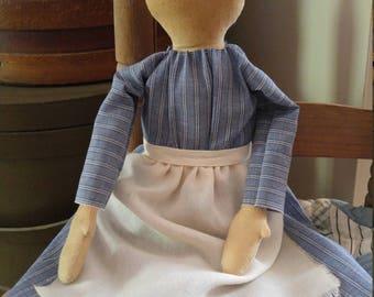 Primitive Cloth Faceless Prairie Doll