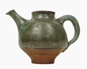 Edna Arnow Pot Stoneware Midwest Pottery Modernist Ceramic Pot Mid Century Modern MCM MOD