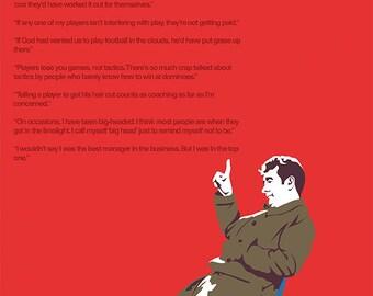 Brian Clough A3 print