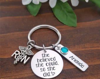 RN Key Chain | Nurse Gift | Nurse Key Chain | Nurse keychain | RN Gift | Nursing Student | Nurse Graduation | Registered Nurse Gift | RN