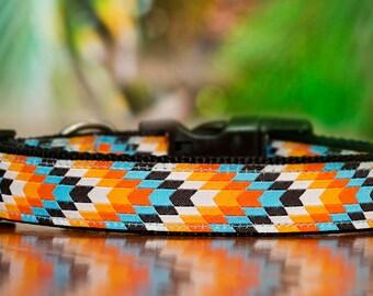 Tribal Dog Collar / XS-XL / Dog Collars Australia /Sunset Navajo Dog Collar