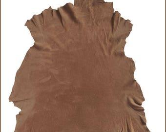 A144-P-leather VINTAGE butterscotch NUBUCK lamb skin.