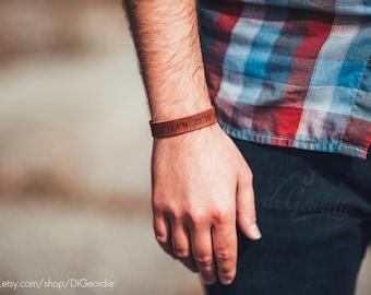 men leather bracelet personalize mens bracelet engravable latitude longitude bracelets coordinate message bracelet roman numerals bracelets