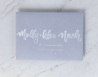 "Envelope Addressing | Envelope Calligraphy | Wedding Envelopes | Wedding Calligraphy | Wedding Invitations | the ""Boston"" font"