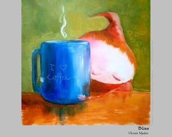 BLISS - Humorous Print for Coffee Lovers