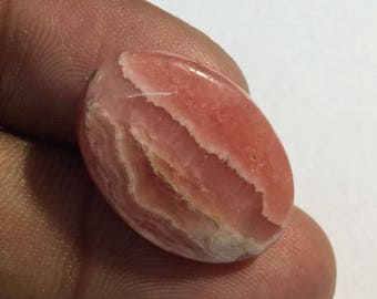 20.8 Cts 100% Natural Quality Rhodochrosite in Good Price Cabochon Loose Gemstone 18x16x4 mm Oval Shape E#813-3