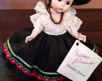 madame alexander international doll mexico 550