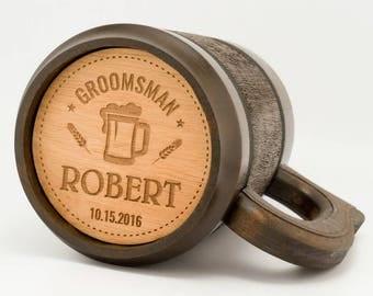 Groomsmen Mugs, Personalized mug, Best Man Gifts, Will You Be My Groomsman, Customized Beer Mug, Gifts For Best Man, Custom beer steins