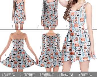 London Baby! England Britain Union Jack - Dress in XS-3XL - Flared, Bodycon, or Skater Style 000927