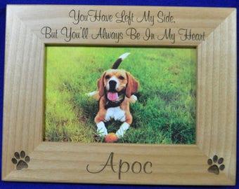 Pet Loss ~ Pet Memorial ~ Pet Frame ~ Pet Loss Gift ~ Custom Pet Frame ~ Loss Of Pet Frame ~ Pets ~ Gift For Pet Loss ~ Sympathy Gift ~ Pet