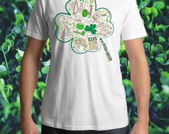 4 Leaf Clover Shirt | St. Patrick's Day Shirt | Shamrock T Shirt | Luck of The Irish Shirt | St Patty's Day Shirt | Green Irish Shirt | Lepr