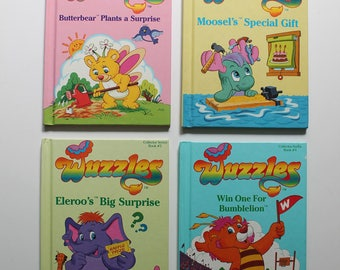 Lot of 4 Wuzzles Books 1-4 1984