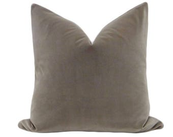 Signature Velvet // Grey Pillow COVER ONLY