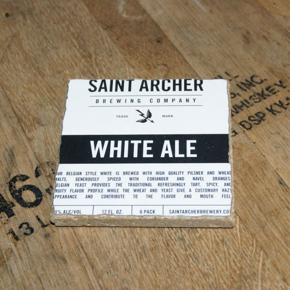 UPcycled Coaster - Saint Archer - White Ale
